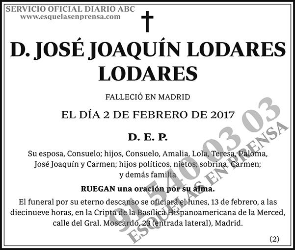 José Joaquín Lodares Lodares